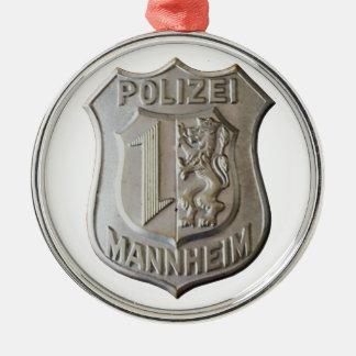 Ornamento De Metal Polizei Mannheim