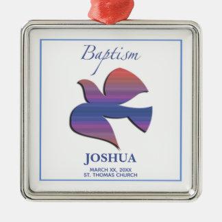 Ornamento De Metal Pomba customizável, adulta do baptismo