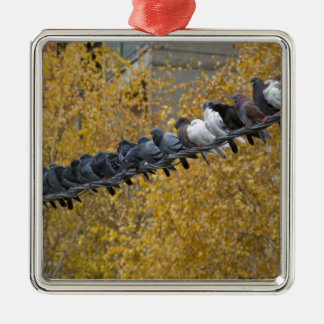 Ornamento De Metal Pombos