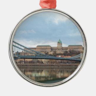Ornamento De Metal Ponte Chain com castelo Hungria Budapest de Buda