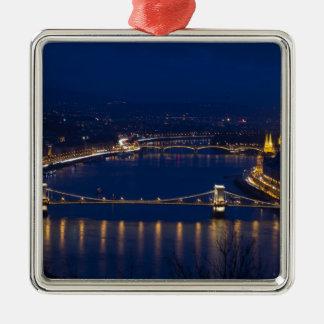 Ornamento De Metal Ponte Chain Hungria Budapest na noite