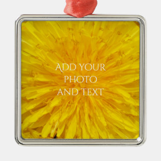 Ornamento De Metal Ponto amarelo 0560 da foto da flor do