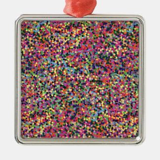Ornamento De Metal Pontos coloridos