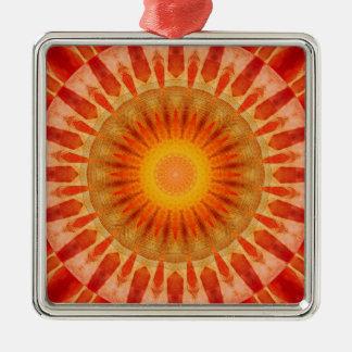 Ornamento De Metal Por do sol da mandala