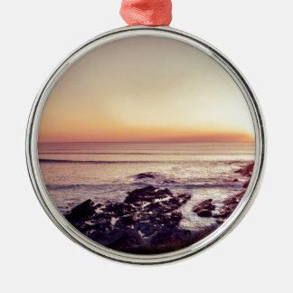 Ornamento De Metal Por do sol da praia de Fistral