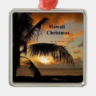 Ornamento De Metal Por do sol de Havaí