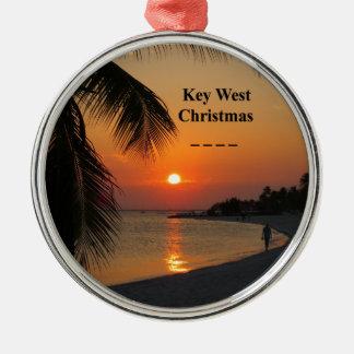 Ornamento De Metal Por do sol de Key West