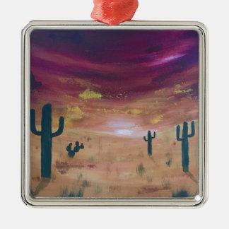 Ornamento De Metal Por do sol do deserto