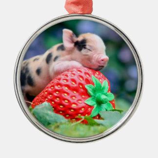 Ornamento De Metal porco da morango