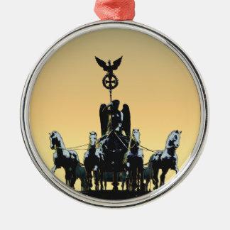 Ornamento De Metal Porta de Brandemburgo 002,1 rd do Quadriga de
