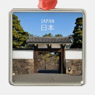 Ornamento De Metal Porta do templo em Tokyo, Japão