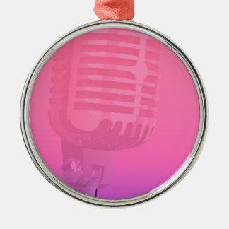 Ornamento De Metal Poster da audiência da noite do karaoke