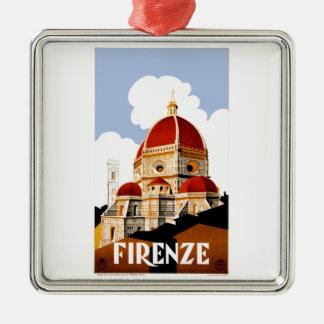 Ornamento De Metal Poster de viagens 1930 de Florença Italia