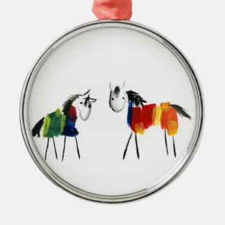 Ornamento De Metal Poucos pôneis do arco-íris