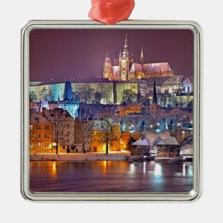 Ornamento De Metal Praga no inverno