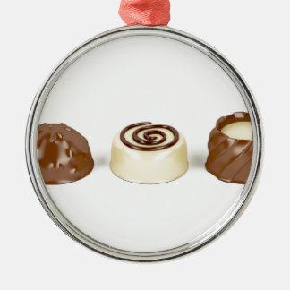 Ornamento De Metal Pralines do chocolate