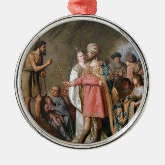 Ornamento De Metal Preaching de John The Baptist