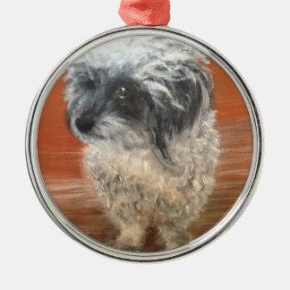 """Ornamento De Metal Premium alfaia de redondo """" Portrait cão """""""