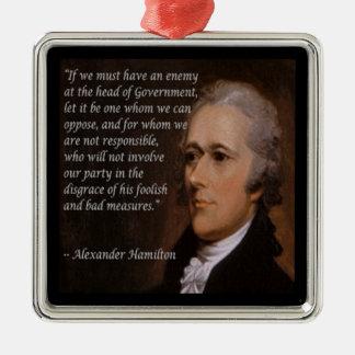 "Ornamento De Metal ""Presente do líder inimigo"" de Alexander Hamilton"