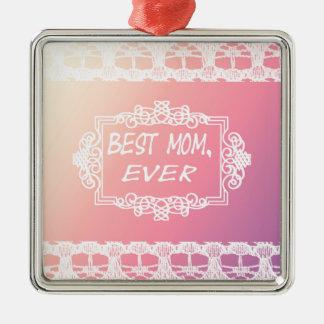 Ornamento De Metal Presente Pastel do dia das mães do melhor rosa da