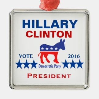 Ornamento De Metal Presidente 2016 de Hillary Clinton