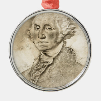 Ornamento De Metal Presidente George Washington