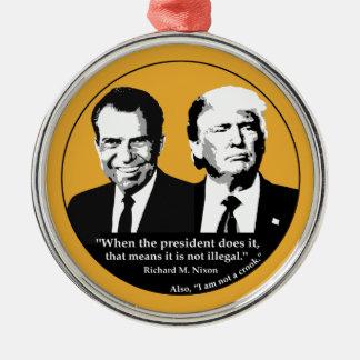 Ornamento De Metal Presidente nao ilegal