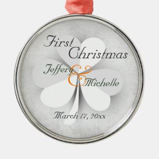 Ornamento De Metal Primeiro Natal personalizado do irlandês
