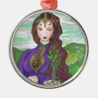 Ornamento De Metal Princesa Cura Terra Planta Growing do unicórnio