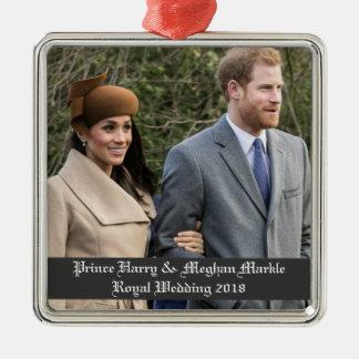 Ornamento De Metal Príncipe Harry & casamento real 2018 de Meghan