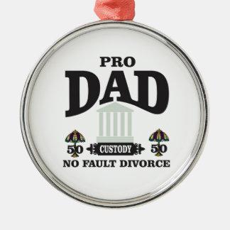 Ornamento De Metal pro equidade do pai na corte