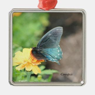 Ornamento De Metal Produtos azuis do verão do Coreopsis do amarelo da