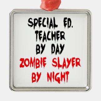Ornamento De Metal Professor do ensino especial do assassino do zombi