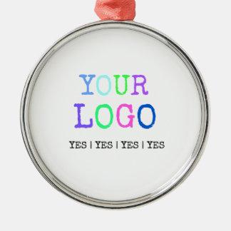Ornamento De Metal Projete seu próprio logotipo personalizado costume