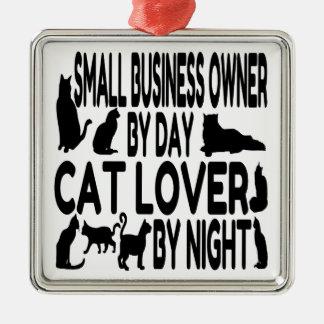 Ornamento De Metal Proprietário empresarial pequeno do amante do gato