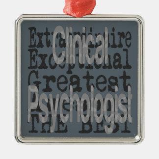 Ornamento De Metal Psicólogo clínico Extraordinaire