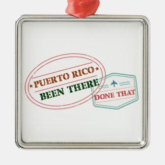 Ornamento De Metal Puerto Rico feito lá isso