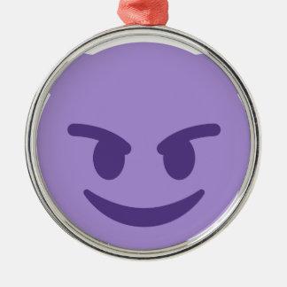 Ornamento De Metal Purple Devil Emoji
