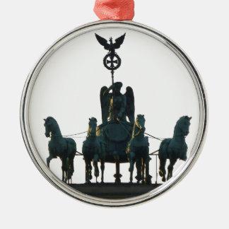 Ornamento De Metal Quadriga de BERLIM na porta de Brandemburgo