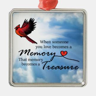 Ornamento De Metal Quando alguém que você ama, cardinal