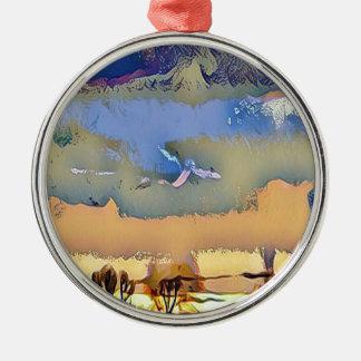 Ornamento De Metal Queda clara colorida céu abstrato tonificado do