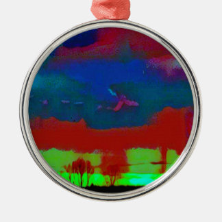 Ornamento De Metal Queda colorida céu abstrato tonificado do