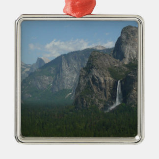 Ornamento De Metal Quedas de Bridalveil e meia abóbada em Yosemite