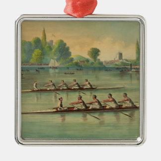 Ornamento De Metal Raça de barco da raça do grupo dos Rowers do