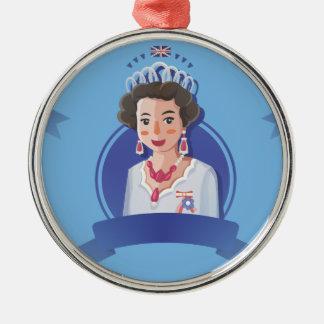 Ornamento De Metal rainha elizabeth 2