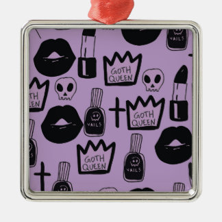 Ornamento De Metal rainha gotica purpura