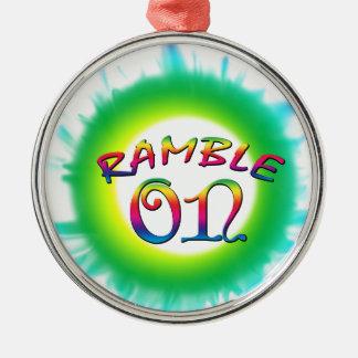 Ornamento De Metal Ramble sobre