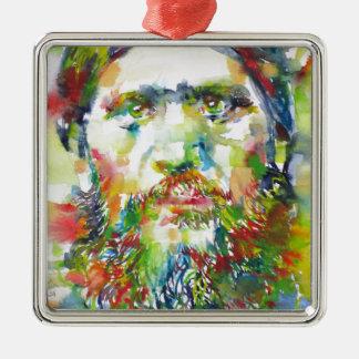 Ornamento De Metal RASPUTIN - aguarela portrait.1