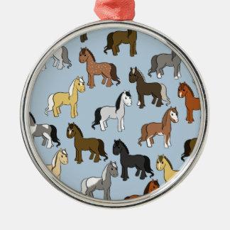 Ornamento De Metal Rebanho bonito dos cavalos
