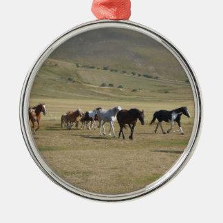 Ornamento De Metal Rebanho dos cavalos